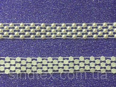 Жемчуг половинка на нитке № AA 025