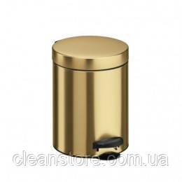 Металлическое ведро для мусора с педалью, 5 л, фото 2