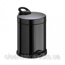 Металлическое ведро для мусора с педалью, 5 л
