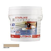 Litokol Starlike Defender С.250 Песочный 2,5 кг затирка двухкомпонентная для укладки плитки и затирки швов