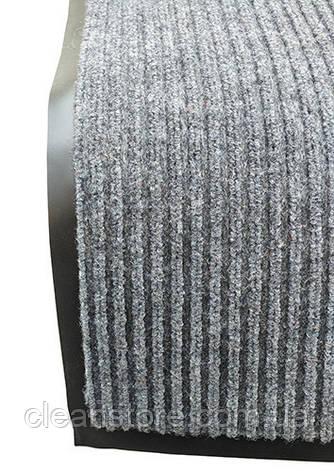 Грязезащитный коврик Дабл Стрипт, 60*90 серый, фото 2