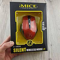 Беспроводная оптическая компьютерная мышка IMICE E-1900 2000dpi черно-красный