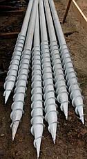 Винтовая свая многовитковая (геошуруп)  диаметром 133 мм длиною 1.5 метр, фото 3
