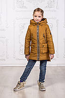 Детская куртка для девочки весна - осень цвет золото, фото 1