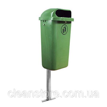 Контейнер пластиковый для мусора 50 л зеленый, фото 2