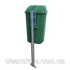 Контейнер пластиковый для мусора 50 л зеленый, фото 3