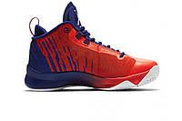 Кроссовки баскетбольные Nike Air Jordan Super.Fly 5 Blue/Red (Реплика ААА класса)