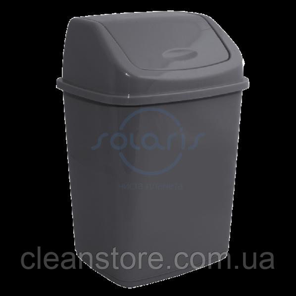 Пластикове відро для сміття з поворотною кришкою, 27 л.