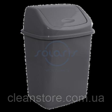 Пластикове відро для сміття з поворотною кришкою, 27 л., фото 2