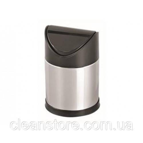 Кошик з поворотною пластиковою кришкою,нержавіюча сталь,глянець 12 л