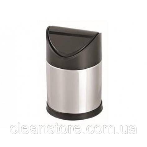 Кошик з поворотною пластиковою кришкою,нержавіюча сталь,глянець 12 л, фото 2