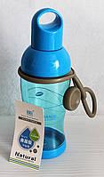 Бутылочка для воды 350мл. Для туризма, спорта, прогулок. Синяя