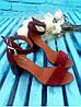 Босоножки на небольшом каблуке из натуральной замши бордового цвета ELEGANTE MARSALA SUEDE, фото 8