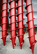 Многовитковая свая винтовая (паля) диаметром 133 мм длиною 2 метра, фото 3