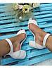 Босоножки на небольшом каблуке из натуральной кожи белого цвета ELEGANTE WHITE LEATHER, фото 8