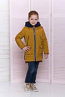 Демисезонная куртка для девочки со вставками, фото 1