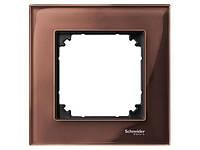 Рамка стеклянная 1-постовая ELEGANCE, махагон Shneider Merten (MTN4010-3215)