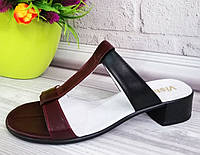 Женские шлепанцы из натуральной кожы. Обувь Днепр., фото 1