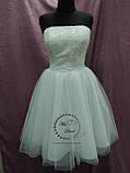 Короткое свадебное платье белое + кружевное болеро, фото 2