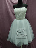 Короткое свадебное платье белое + кружевное болеро, фото 6