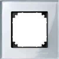 Рамка стеклянная 1-постовая ELEGANCE, серебренный бриллиант Shneider Merten (MTN4010-3260)