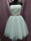 Короткое свадебное платье белое + кружевное болеро, фото 4