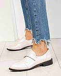 Шикарные кожаные женские туфли розовый перламутр, фото 6