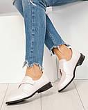Шикарные кожаные женские туфли розовый перламутр, фото 8