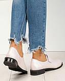 Шикарные кожаные женские туфли розовый перламутр, фото 9