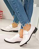 Шикарные кожаные женские туфли розовый перламутр, фото 10