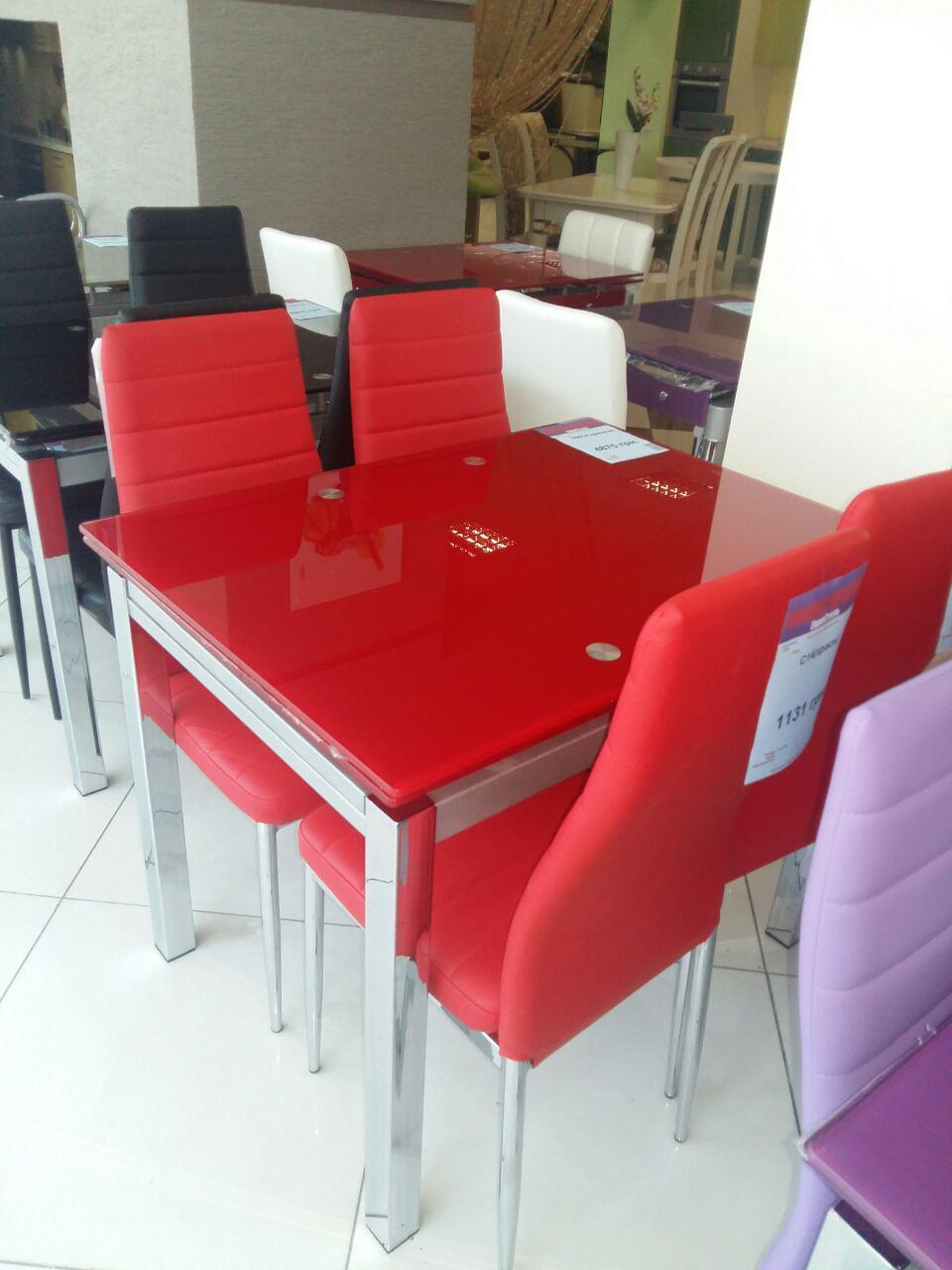 Стол ТВ 017 (без узора) (красный)