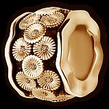 Шарм Бусина серебряная Ромашка Б267-R, фото 2