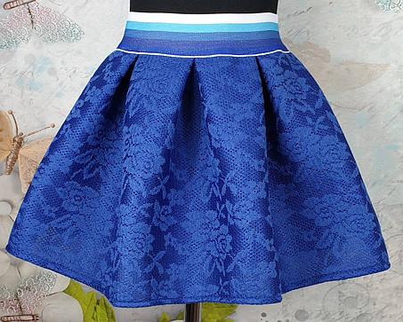 Юбка для девочки р 128-146 электрик, фото 2