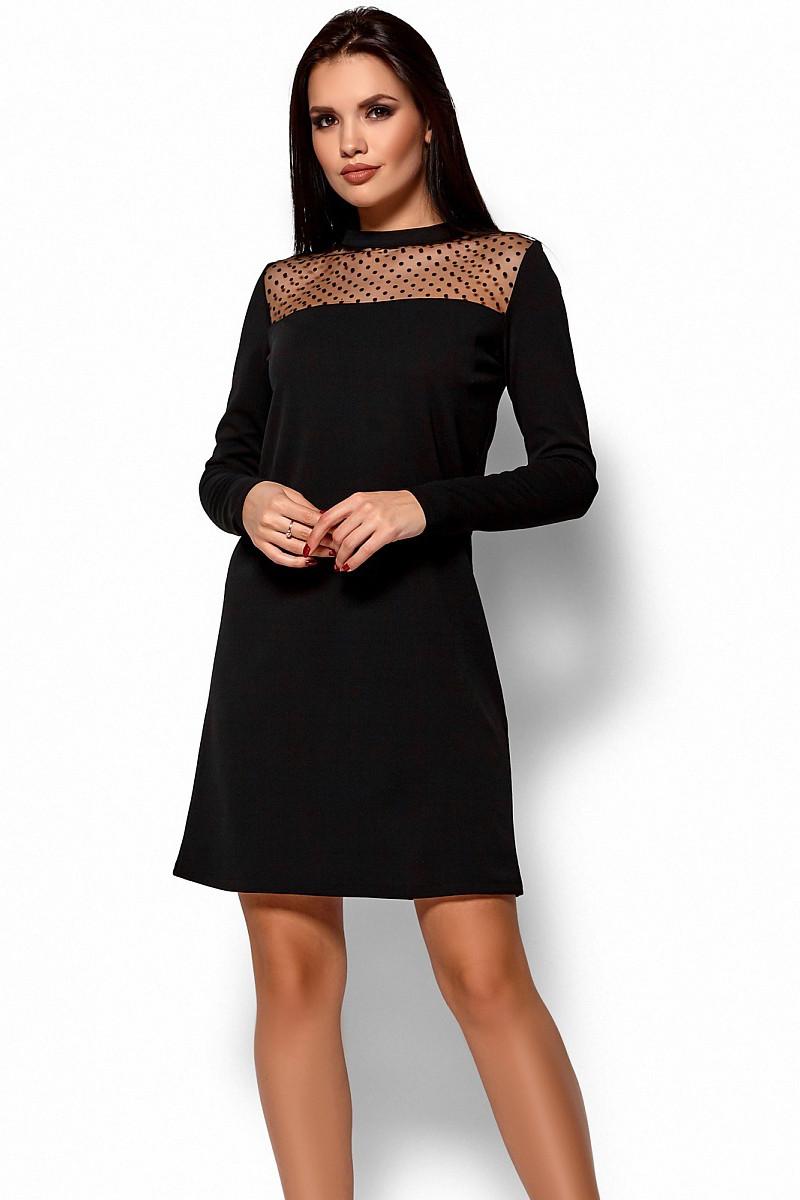 S, M, L / Стильное повседневное платье Ruby, черный