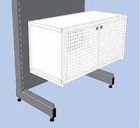Торговое оборудование для магазина бытовой техники и электроники. Ящик с перфорацией для стеллажа, фото 1