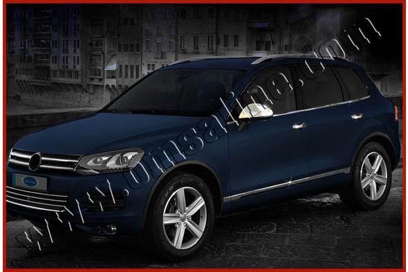 Нижний молдинг стекла (6 шт, нерж) Volkswagen Touareg 2010-2018 гг.