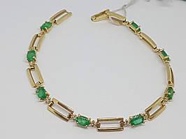 Золотой браслет с бриллиантами и изумрудом. Артикул Б5132/2 19