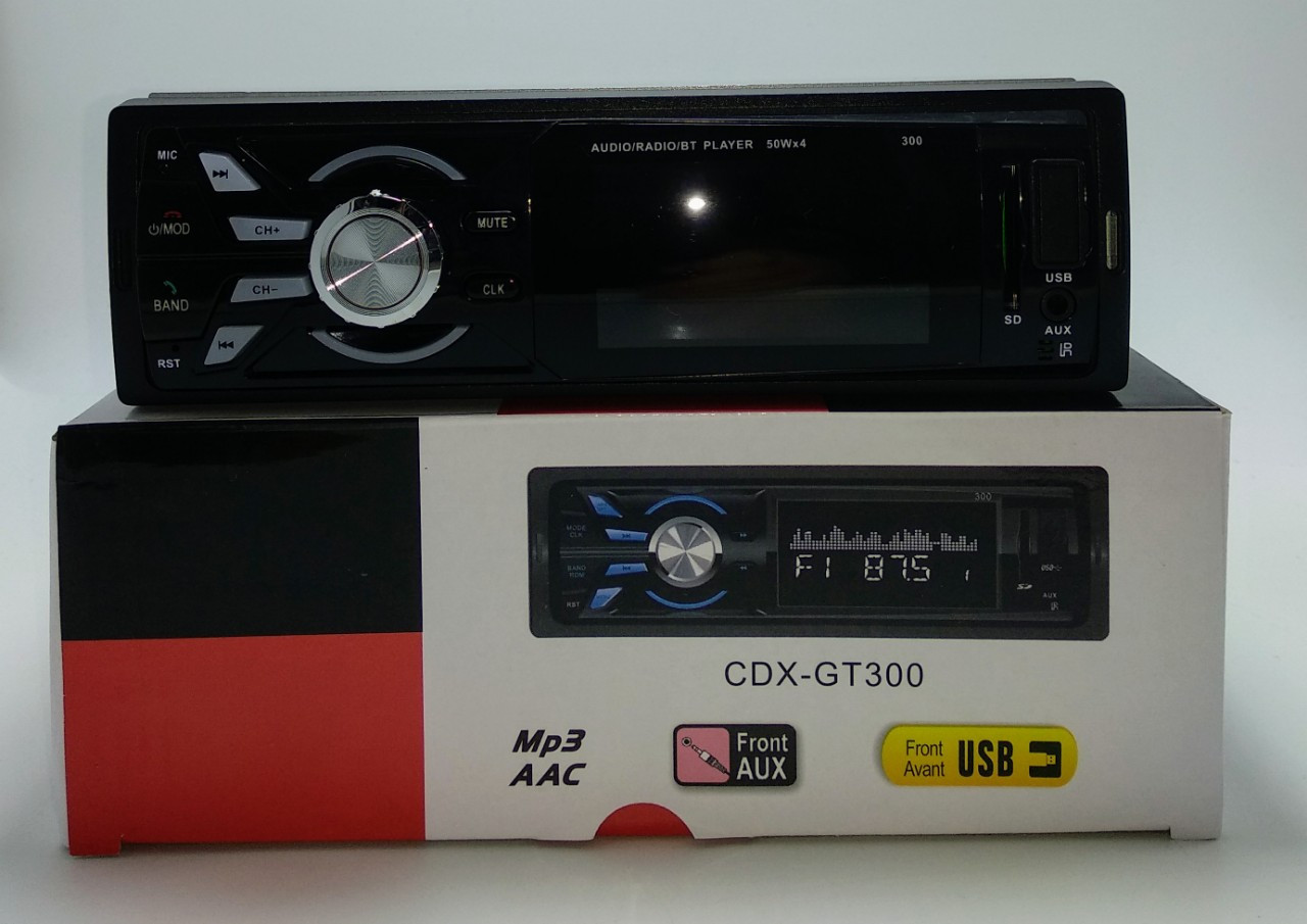 Автомагнитола CDX-GT 300 магнитола в машину USB пульт ДУ съемная магнитола