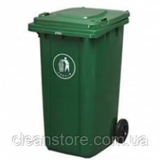 Контейнер для мусора уличный на колесах с крышкой, 120 л.