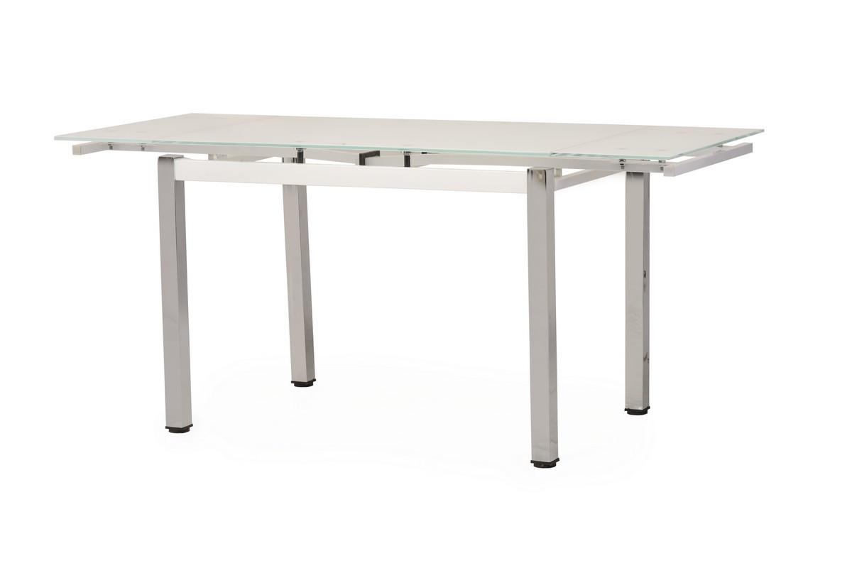 Раздвижной стол Т-231 белый 110/170 от Vetro Mebel, стекло