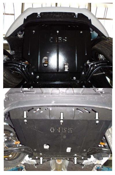 Защита двигателя и кпп  радиатора Ford B-Max EcoBoost 2013