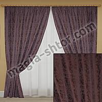Мраморные шторы фиолетовые. Комплект: 2 шторы, 2 подхвата