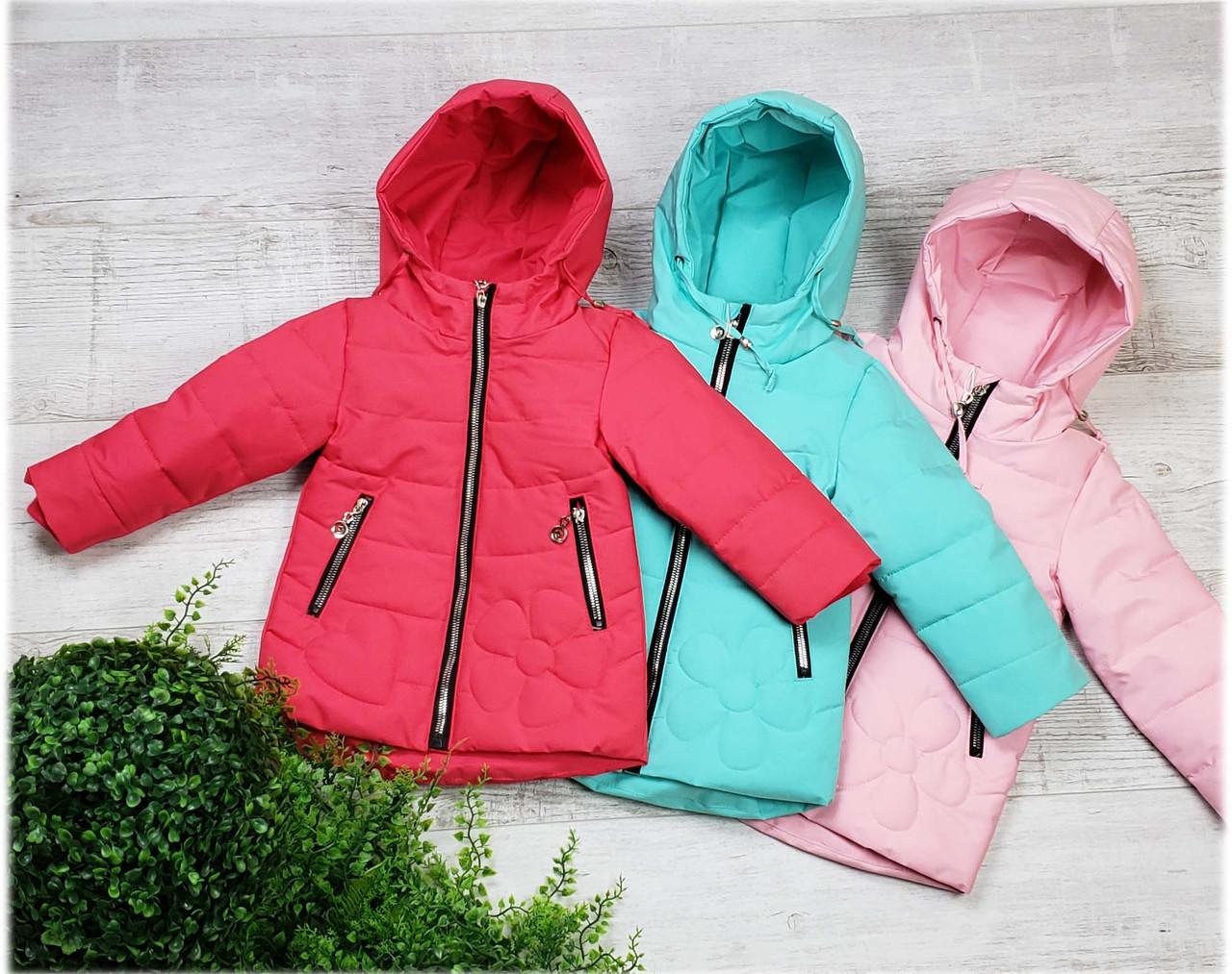Куртка весна-осень w-10, размеры 80-104 (1-3 лет), цвет красный, голубой