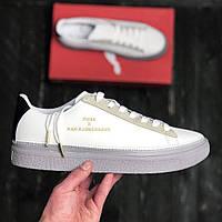 Puma x Han KJØBENHAVN Clyde Stitched White | кроссовки мужские и женские; кожаные; белые