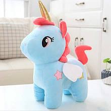 Мягкая игрушка Единорог голубой 24см