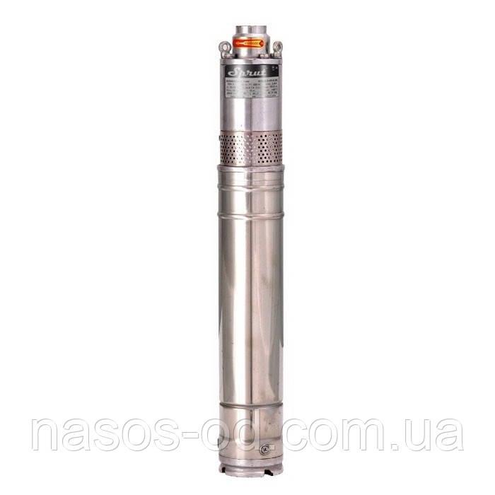 Скважинный шнековый насос Sprut QGDа0.8-40-0.28  0.55кВт Hmax80м Qmax30л/мин Ø76мм (кабель 10м)