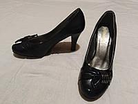 Туфельки на каблуке, кожзам