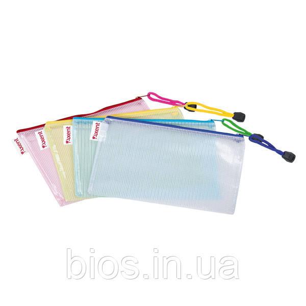 Папка-конверт на блискавці прозор. Axent