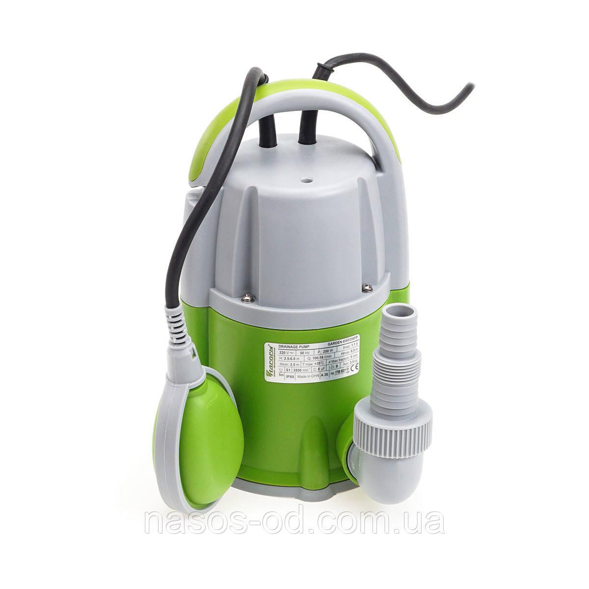 Насос дренажный садовый Насосы+Оборудование GARDEN-DSP400FP 0.4кВт Hmax8м Qmax150л/мин