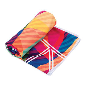 Охлаждающее пляжное/спортивное полотенце Spokey Malaga 80х160 921944, для спортзала, быстросохнущее